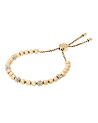 Michael Kors Small Crystal Bead Slider Bracelet Women's Rose Gold