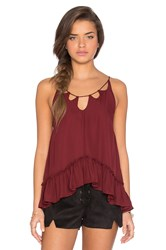 Twelfth St. By Cynthia Vincent Multiple Key Holes Cami Red