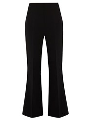 Roland Mouret Connor Stretch Cady Kick Flare Trousers Black