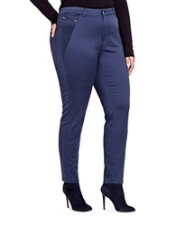 Addition Elle Love And Legend Power Stretch Regular Rise Skinny Ankle Pants Blue