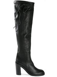 Ann Demeulemeester Over The Knee Boots Black