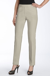 Lafayette 148 New York 'Irving' Stretch Wool Pants Regular And Petite Nordstrom Exclusive Khaki