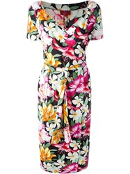 Kenzo Vintage Floral Wrap Dress Multicolour