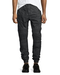 Prps Maverick Cargo Pocket Moto Jogger Pants Black