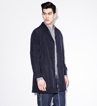 Silas Navy Packable Light Coat