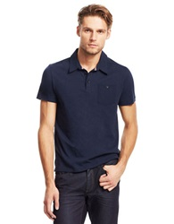 Kenneth Cole Pocket Polo Shirt Blue