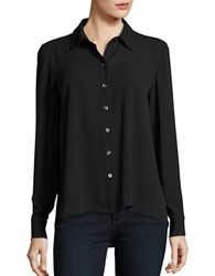 Lord And Taylor Nicole Long Sleeve Blouse Black