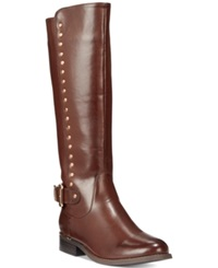Wanted Pub Tall Shaft Studded Boots Women's Shoes Brown