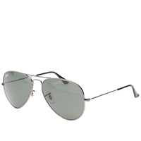 Ray Ban Ray Ban Aviator Sunglasses Gunmetal And Green