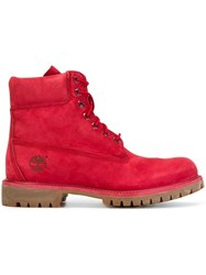 Timberland Hiking Ankle Boots Red