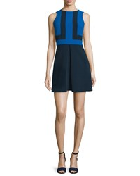 Michael Michael Kors Sleeveless Colorblock Mini Dress New Navy