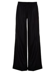 Valentino Drawstring Wide Leg Trousers Navy