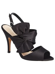 Phase Eight Aria Satin Bow Sandals Black