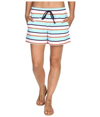 Tommy Bahama Tb Rugby Stripe Elastic Waist Short Cover Up Multicolor Women's Swimwear