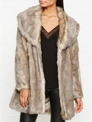 Unreal Fur Elixer Faux Coat Brown