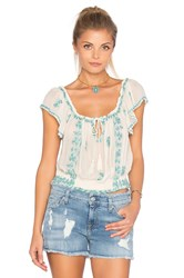 Free People Paisley Park Top White