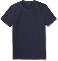 Descente S.I.O. Slim Fit Stretch Jersey T Shirt Blue