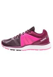 Reebok Exhilarun 2.0 Cushioned Running Shoes Maroon Berry Pink White
