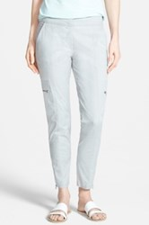 Eileen Fisher Twill Ankle Cargo Pants Gray