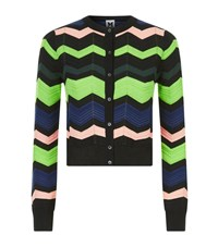 M Missoni Zig Zag Knit Cropped Cardigan Female Multi