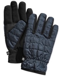 Timberland Quilted Touchscreen Gloves Navy