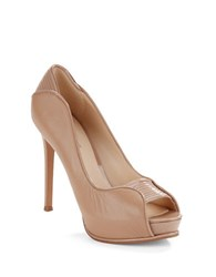 Nine West Camera Shy Peep Toe Pumps Taupe