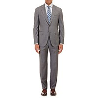 Isaia Men's Sharkskin Gregory Two Button Suit Grey