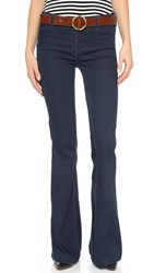 Free People Jolene Flare Jeans Perfect Navy