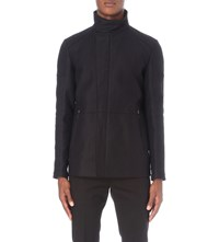 Reiss Stardust Cotton Twill Jacket Navy