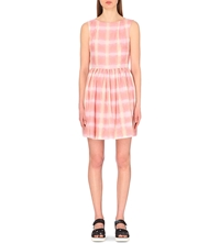 Marc By Marc Jacobs Blurred Gingham Printed Dress Piggy Pink Multi