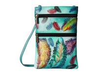 Anuschka 448 Floating Feathers Cross Body Handbags Green
