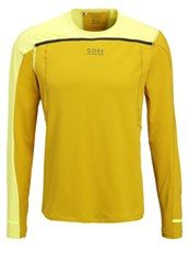 Gore Running Wear Fusion Sports Shirt Golden Oak Cadmium Yellow