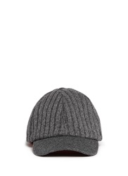 My Bob Cashmere Knit Baseball Cap Grey