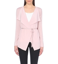 Hugo Boss Silk And Cashmere Blend Cardigan Light Purple
