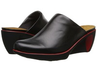 Naot Footwear Evening Black Madras Leather Women's Flat Shoes