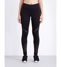 Michi Radiate Mesh Insert Jersey Leggings Black
