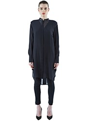 Ilaria Nistri Long Sheer Shirt Dress Black