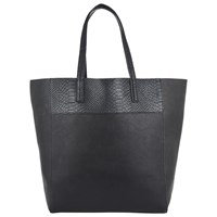 John Lewis Tony Colour Tote Bag Black