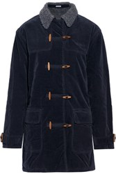 Tomas Maier Cotton Blend Corduroy Coat Midnight Blue