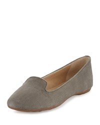 Splendid Cannes Crocodile Embossed Flat Gray