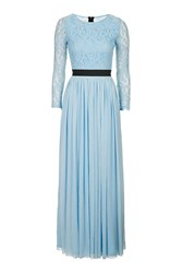 Rare Long Sleeve Lace Top Maxi Dress By Blue