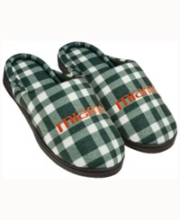 Forever Collectibles Miami Hurricanes Flannel Slide Slippers Green