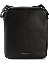 Ermenegildo Zegna Small Messenger Bag Black