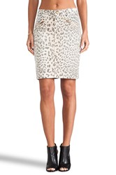 Current Elliott The Soho Zip Pencil Skirt Beige