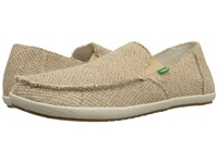 Sanuk Rounder Hobo Hemp Natural Hemp Men's Slip On Shoes Taupe