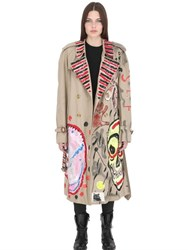 Patricia Field Art Fashion Scooter Laforge Hand Painted Cotton Coat