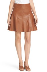 Rebecca Taylor Women's Faux Leather Skirt