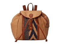 Lucky Brand Kendal Washed Linen Backpack Sand Midnight Backpack Bags Brown