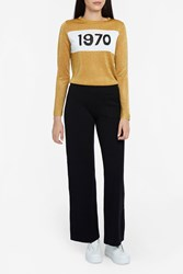 Bella Freud Women S 1970 Metallic Lurex Jumper Boutique1 Gold