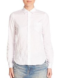 Junya Watanabe Button Front Crinkle Blouse White